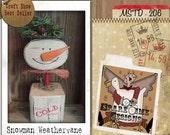 Primitive Snowman Pattern, Primitive Snowman, Primitive Wooden Snowman, Wood Snowman Pattern, Primitive Holiday Decor, Folk Art Snowman