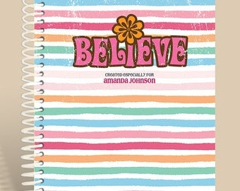 "Prayer Journal - ""Believe"" / Personalized Journal / Personalized notebook"
