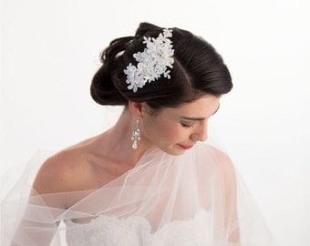 Wedding Headpiece, Lace Bridal Hair Comb, Lace Headpiece, Bridal Hair Comb