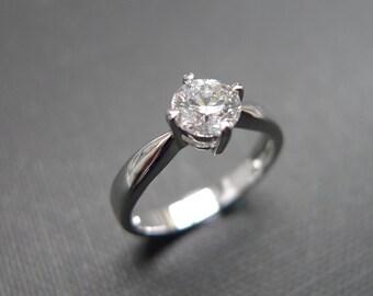 Classic Diamond Engagement Ring in 14K White Gold (0.50ct., G/VS2)
