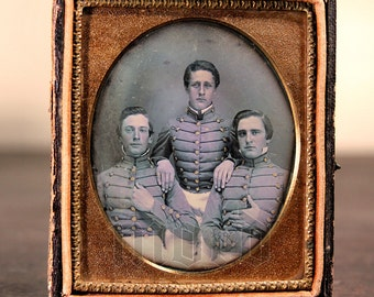 Important 1/6 Daguerreotype Photo - VMI Virginia Military Institute Cadets