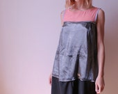Flow Silver and Pink Multi Panelled Dress size M