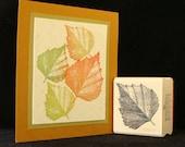 aspen leaf rubber stamp (larger)