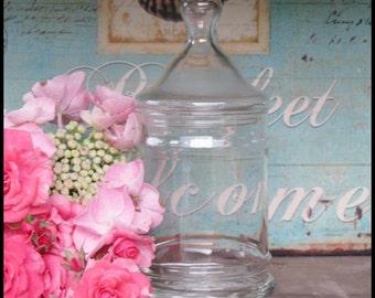 Vintage Glass Apothecary Jar/Wedding Candy Bar/Princess Birthday Party
