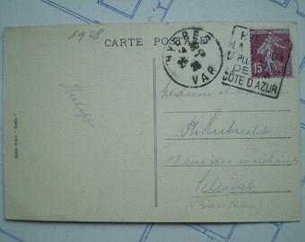 Hyeres - 1928 - Antique French Postcard - La Fontaine Godillot
