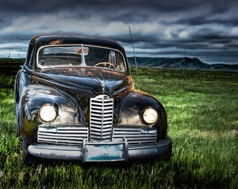 Vintage Automobile at Dusk on the Prairie No.17 A Fine Art Auto Car Landscape Photograph