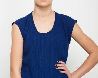 Blue t shirt, blue top, royal blue tank top, summer t shirt, loose fit shirt, casual t shirt, summer top, short sleeves,