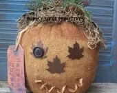 Primitive Pumpkin, Primitive Maple Leave Pumpkin,
