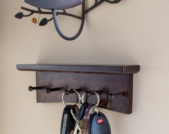 Key Rack  - Quartersawn White Oak Arts and Crafts / Mission Style