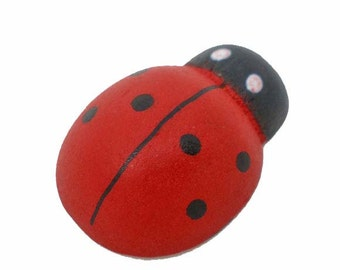 50 Wooden Ladybugs - Large - Perfect for Scrapbooking and Crafts - Z055