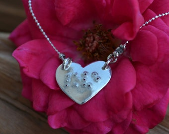 Braille Necklace - Love in Braille - Great Gift of Love - Anniversary Gift - Mothers Day -Gift for Wife -Girlfriend