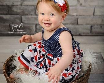 Patriotic Stars Headband  (Newborn, Toddler, Child)