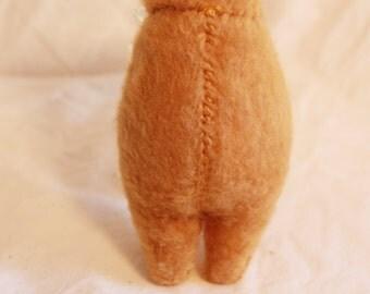SALE!!! Molar Bear- Tan- handsewn stuffed animal travel companion