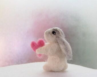 Needle Felted Rabbit. Bunny Nursery Decor. Gift Ideas For Girls. Small Felt Animals. White Bunny. Toys For Girls. Cute Bunny. Felt Bunnies