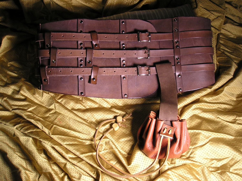 leather kidney belt pirate gladiator sca larp shop sle sale