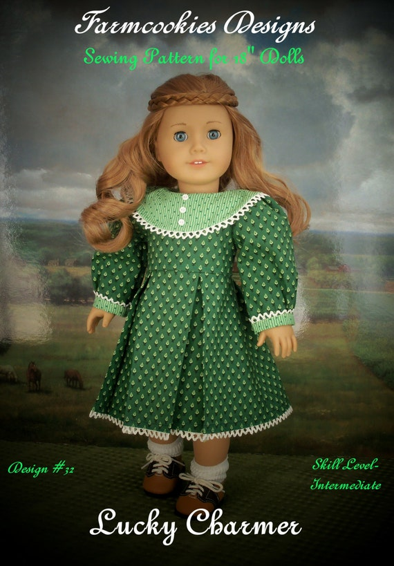 "PDF Sewing Pattern/  Lucky Charmer / Clothes fit American Girl® or Other 18"" Doll"