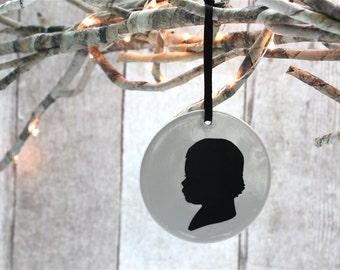 Custom silhouette ceramic ornament