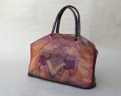 HOLD FOR  julie whaley         Vintage 70s Leather Purse Embossed Leather Bag