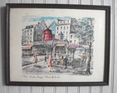 Mid Century Paris/ Collection of 3 Framed Prints