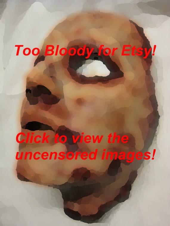 Krystal -Skinned Horror Face Mask