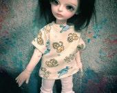 Pale Yellow Safari YoSD BJD  Shirt