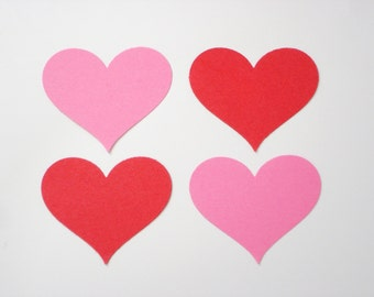 25 Large Red Pink Heart Confetti, Birthday Party Decorations - No679