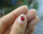 micro amigurumi miniature ladybug - micro amigurumi bug