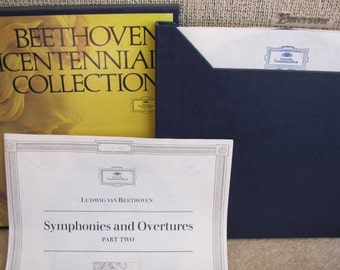 """Vintage Ludwig van Beethoven's """"Centennial Collection Symphonies and Overtures Part Two, Volume II"""" Classical Music Vinyl Record Albums - 5"""