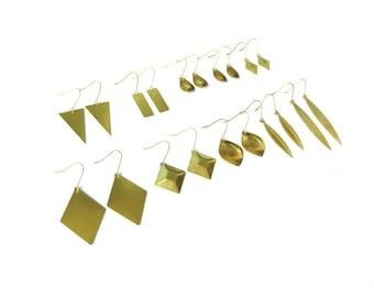 RAW BRASS Geometric Collection - 10 Different Styles