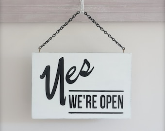 Business Sign, Open/Closed Sign, Custom Sign, Wall Art, Wood Sign, Vintage Sign