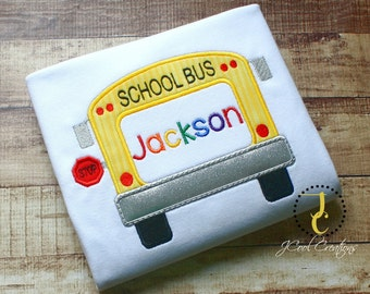 Back To School Shirt - 1st Day of School, Back To school Outfit, Back To School Dress, School Bus Shirt, Personalized Shirt, Monogram Shirt