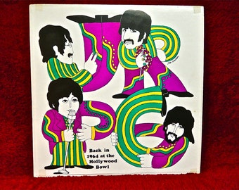 RARE...The BEATLES - Back at the Hollywood Bowl - Vintage Vinyl Record Album....BOOTLEG Copy