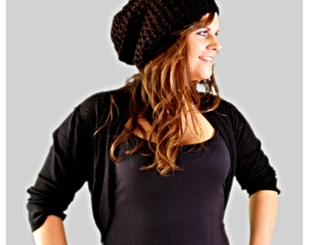Black Slouchy Hat, Winter Fashion Accessories