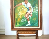 Vintage Oil Portrait: Tennis Anyone?