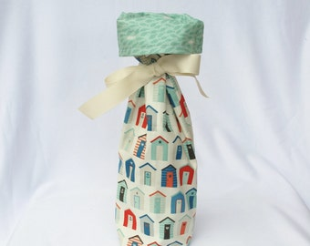 Wine Gift Bag - The Henley Studio Nautical Beach Huts for Makower