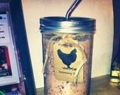 Mason Jar - 24 oz Farm Girl Drinking Jar with stainless straw