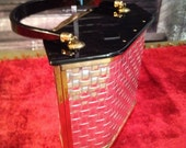 Vintage 50s Majestic Metal Weave and Lucite Purse
