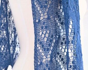"Scarf pattern ""Florence"". Lace scarf. Original design. PDF pattern. LaceKnit design."