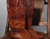 Vintage Joan and David Italian Leather Knee High Leather Boots