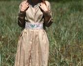Natural thin linen cardigan/dress