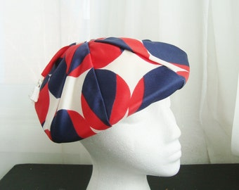 1960's Mod Beret, in Red, White and Navy, London Street Style