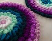 Pillow Flower Crochet Pattern PDF - Round Cushion Photo tutorial - Instant DOWNLOAD