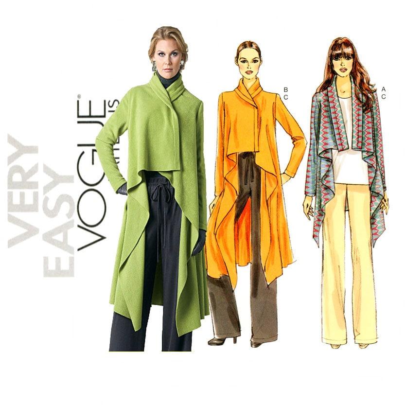 Drape Jacket Pattern Vogue V8780 Draped Jacket And
