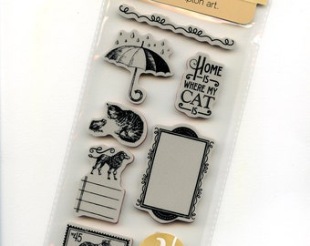 Raining Cats and Dogs 3 - Cling Mounted Rubber Stamps from Graphic 45