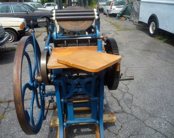 Old Style C&P Chandler and Price 8x12 treadle letterpress letterpresses printing press
