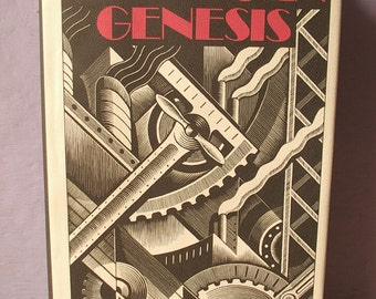Vintage American Genesis book by Thomas P. Hughes, 1989, inventions book, science book, US history book, antique photographs, Einstein