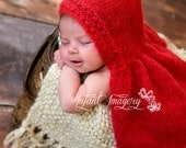 Little Red Heart Cape Knitting Pattern - All Sizes Newborn through 1-3 Years Included - Instant Digital Download