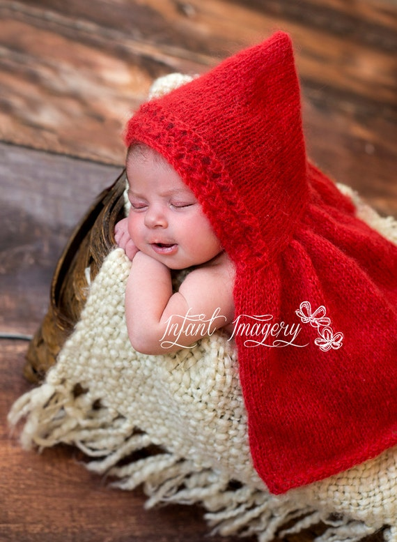 Little Red Heart Cape Knitting Pattern All Sizes Newborn