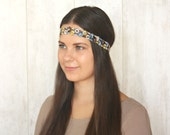 Floral Headband Boho Headband Adult Headband Woman Hippie Flower Headband Hair Accessories Skinny Headband