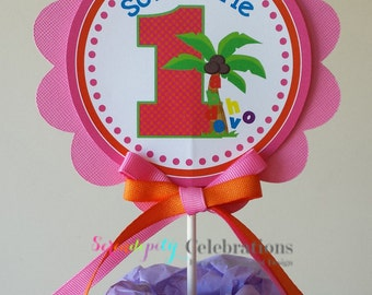 Coconut Tree Collection: Smash Cake Topper -small centerpiece -Birthday -Baby Shower -Alphabet Letters
